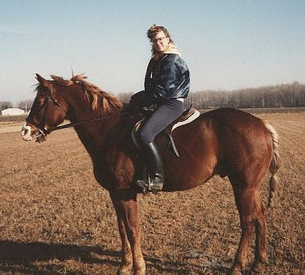 Sandy and I where we loved to ride - out in the field