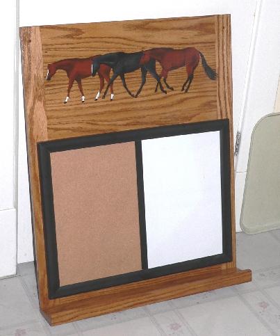 Dry erase/cork board